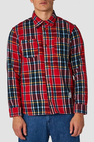 Juntoku Shirt (Red Flannel Check) - Kings Of Indigo
