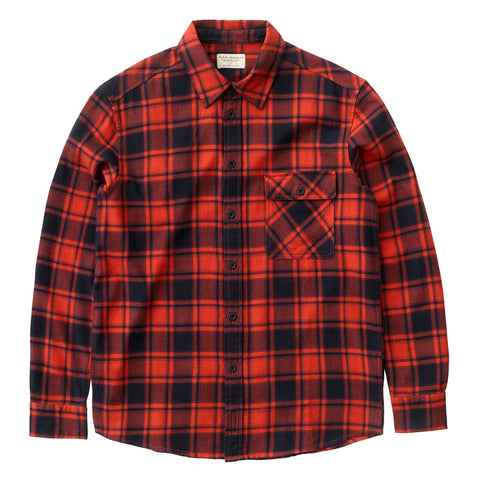 Sten Flannel Check Shirt (Red Alert) - Nudie Jeans