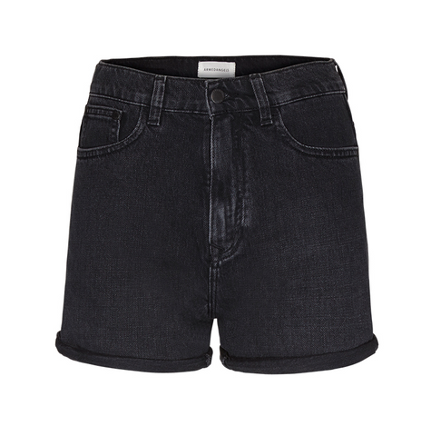 Silvaa Denim Shorts (Washed Down Black) - ARMEDANGELS