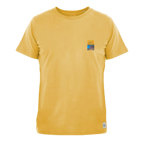 PCH Bagsø Brushed Men's T-Shirt (Yellow) - ELSK