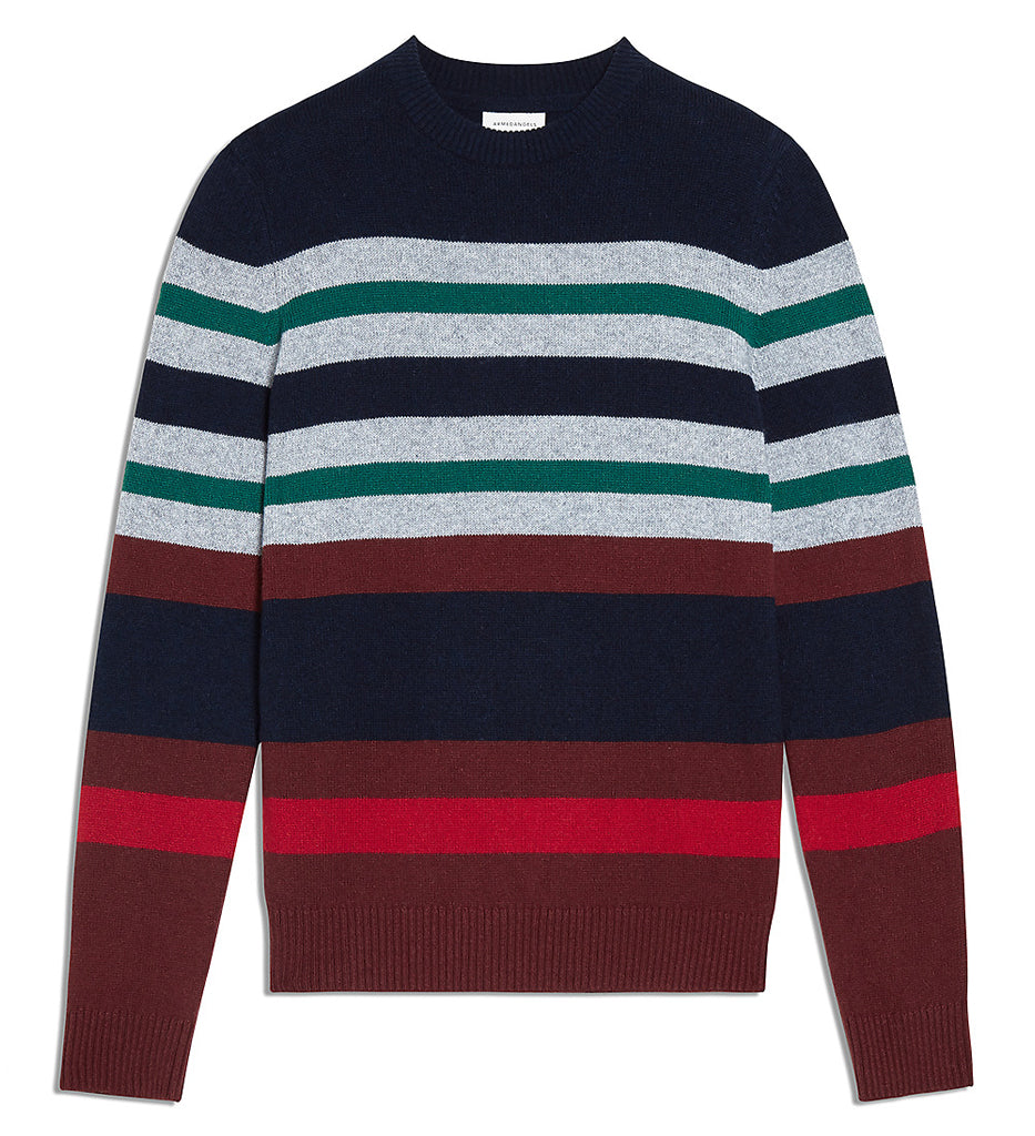 Straato Sweater (Navy/Red Pear) - ARMEDANGELS