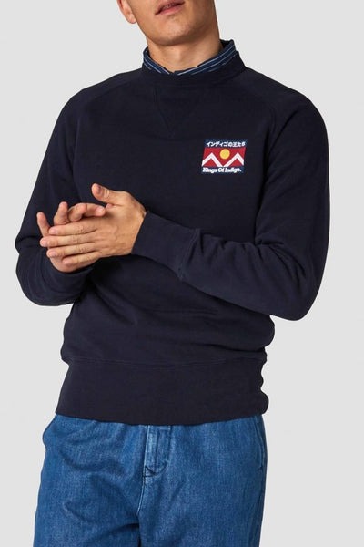 Parnell Sweatshirt (Navy Mountain) - Kings of Indigo