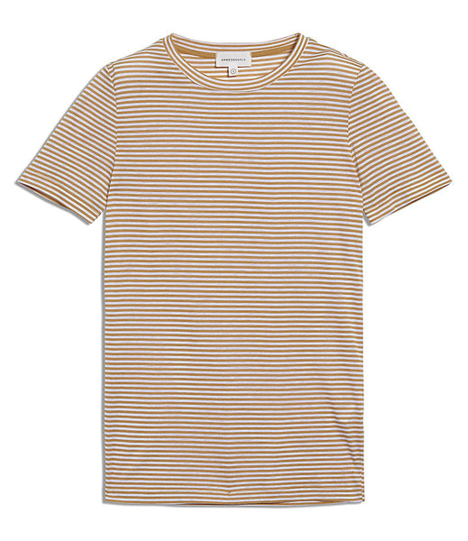 Lidaa Ring Stripes Tee (Caramel/White) - ARMEDANGELS