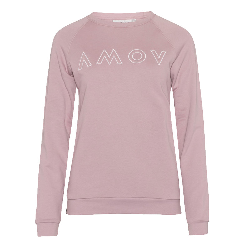 Amy Logo Sweat (Pale Rose) - AMOV