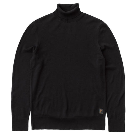 Cornelis Roll Neck (Black) - Nudie Jeans