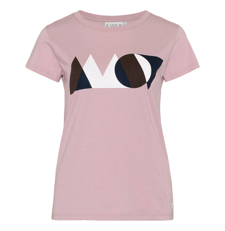 Asta Geometry Tee (Pale Rose) - AMOV