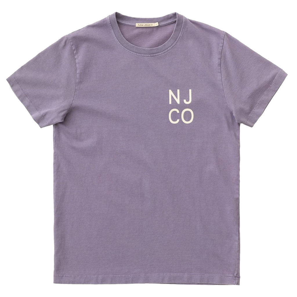 Roy NJCO T-shirt (Lilac) - Nudie Jeans