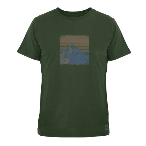 Havet Men's Brushed Tee (Forest Green) - ELSK