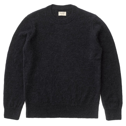 Hampus Solid Sweater (Black) - Nudie Jeans