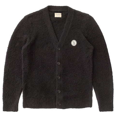 Pim NJCO Circle Cardigan (Black) - Nudie Jeans