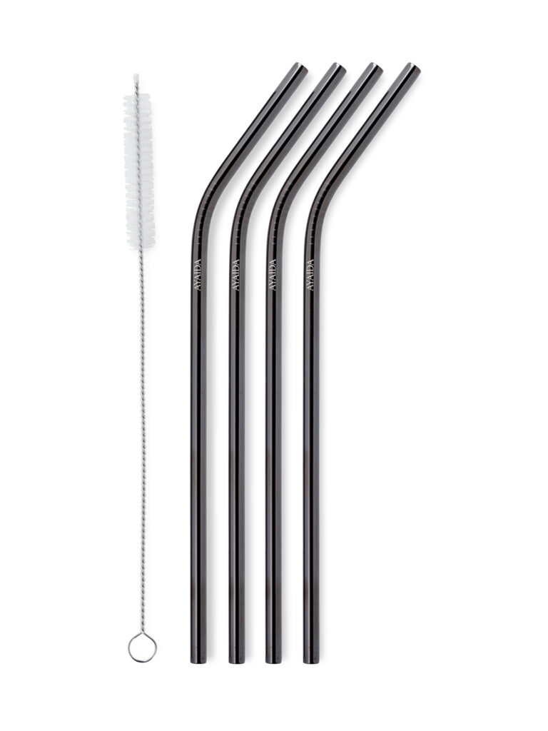 Reusable Drinking Straws (Black, Silver or Rose Gold) - AYAIDA