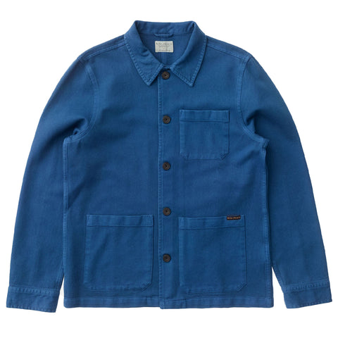 Barney Worker Jacket (Blue) - Nudie Jeans
