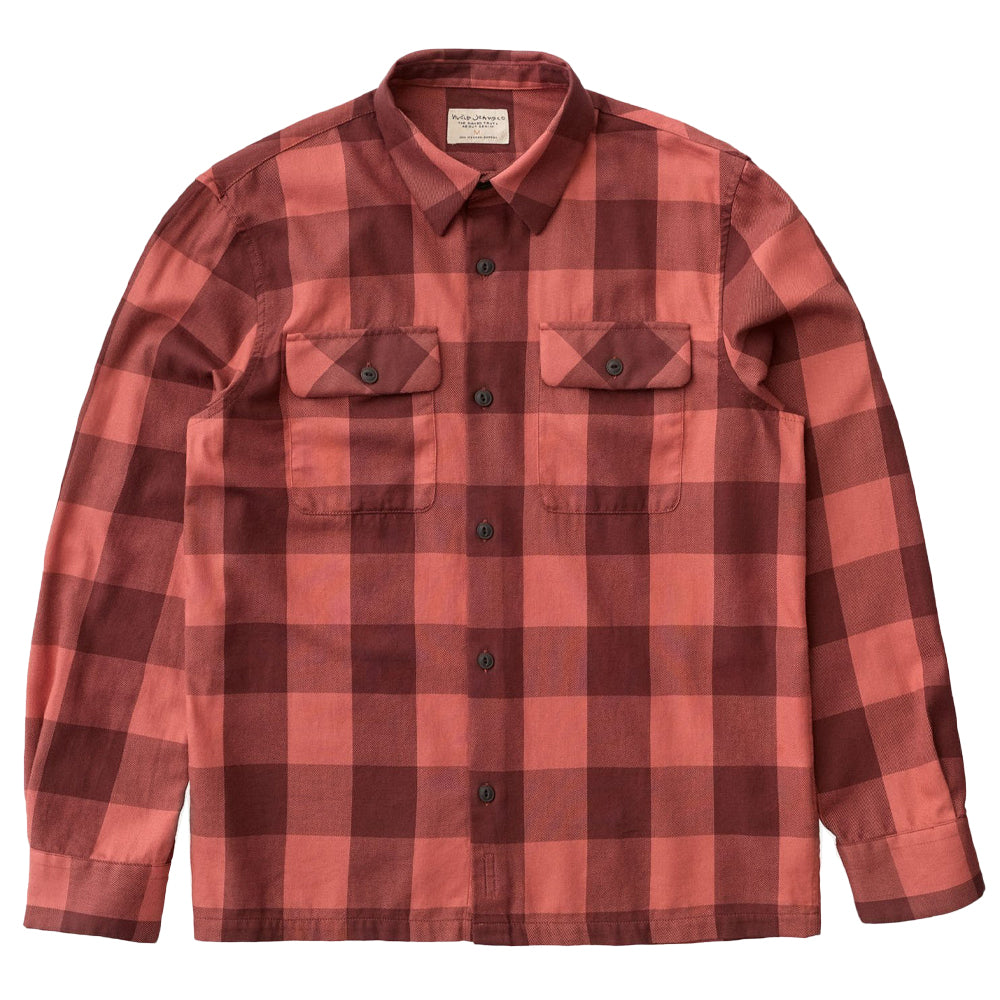 Sten Block Check (Dusty Red) - Nudie Jeans