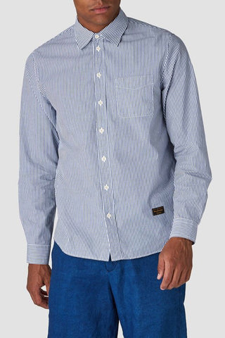 Enda Shirt (Navy Fine Stripe) - Kings Of Indigo