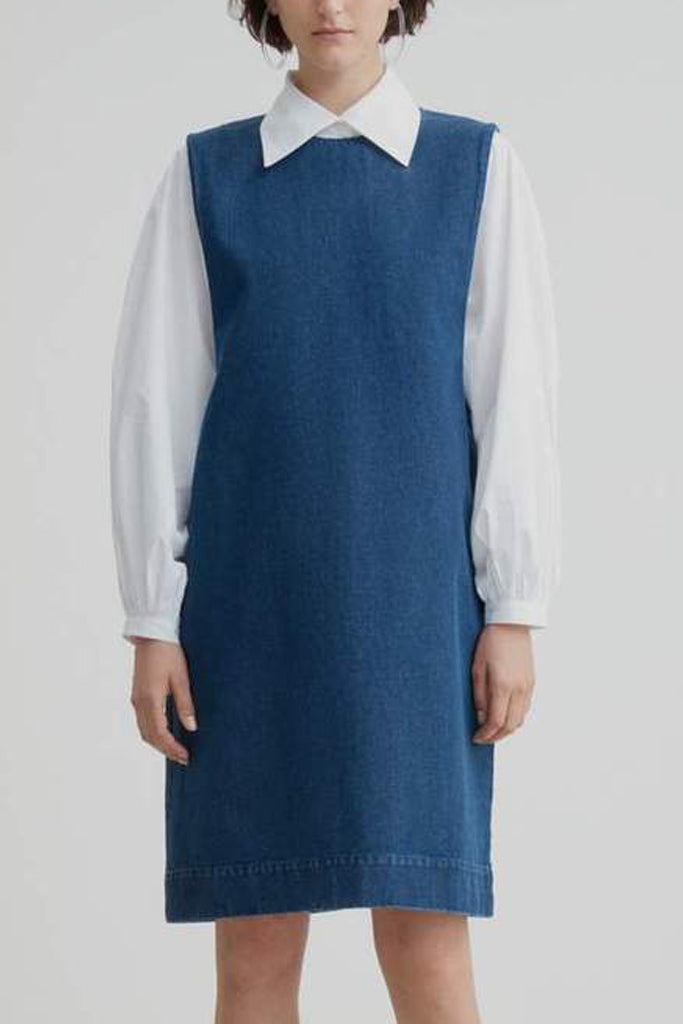 Form Dress (Indigo Denim) - Kowtow