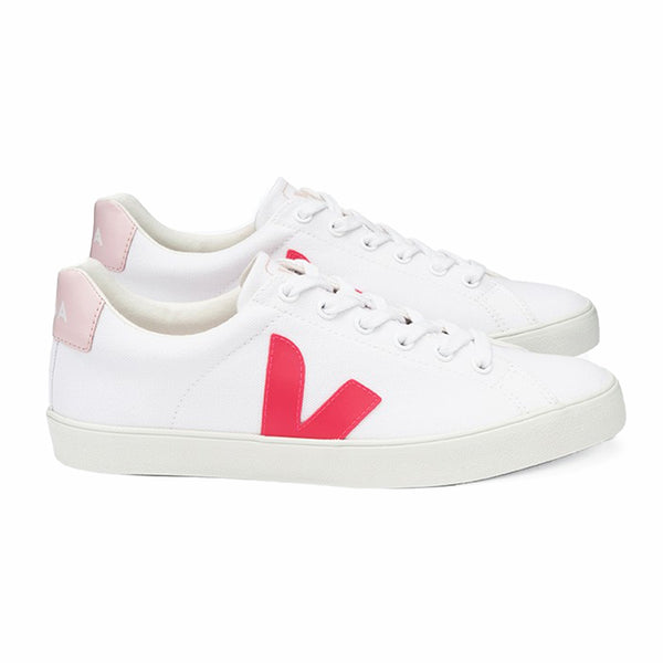 Esplar Canvas White Rose Fluo Petale - VEJA Shoes AAA