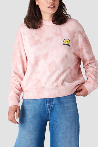 Idalika Sweatshirt (Tie Dye Pink Smiley) - Kings Of Indigo
