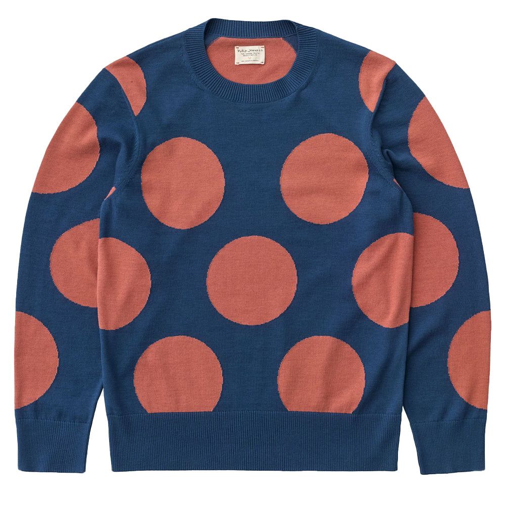 Hampus Dots Sweater (Blue) - Nudie Jeans