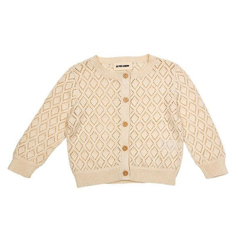 Diamond Cardigan (Cream) - AS WE GROW