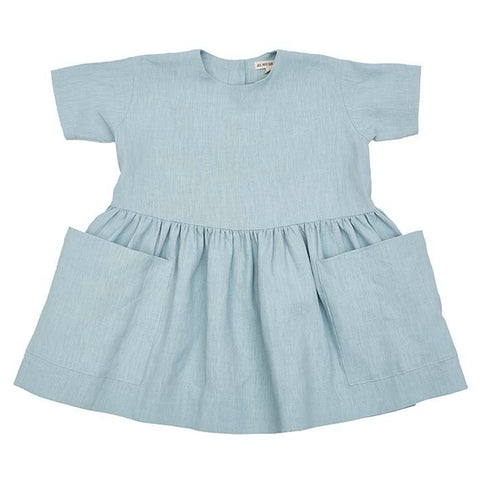 Pocket Dress Short Sleeve (Sage) - AS WE GROW