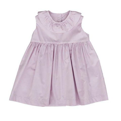 Sleeveless Ruffle Neck Dress (Soft Lilac) - AS WE GROW