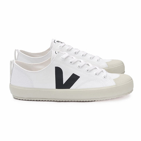 Nova Canvas White Black - VEJA Shoes AAA