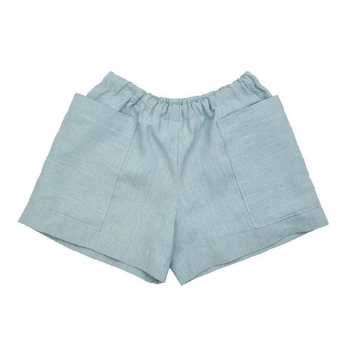 Linen Pocket Shorts (Sage) - AS WE GROW