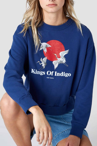Idalika Sweat (Navy) - Kings Of Indigo