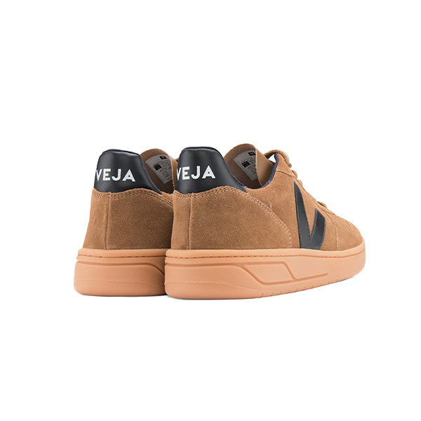 V10 Suede Brown Black Gum-Sole - VEJA Shoes