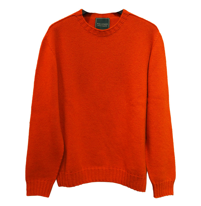 Lambswool Recycled Sweater (Orange) - PULLOVER
