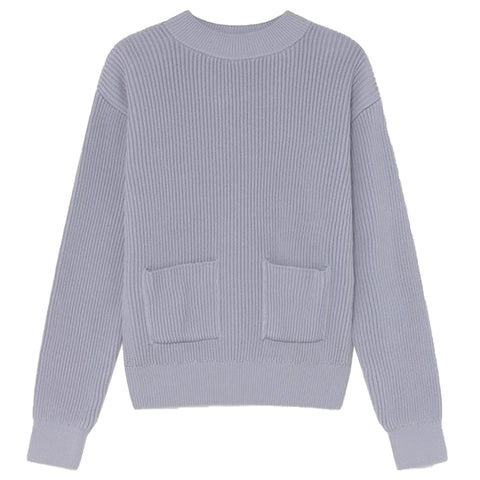 Faleme Knitted Sweater (Mauve) - Thinking MU