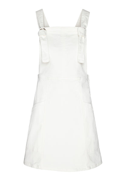 Irisaa Dungaree Dress (Off White) - ARMEDANGELS