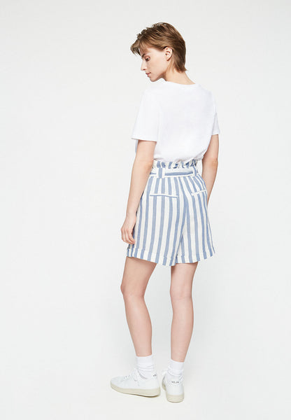 Eliaa Block Stripe Shorts (Breeze Blue/Off White) - ARMEDANGELS