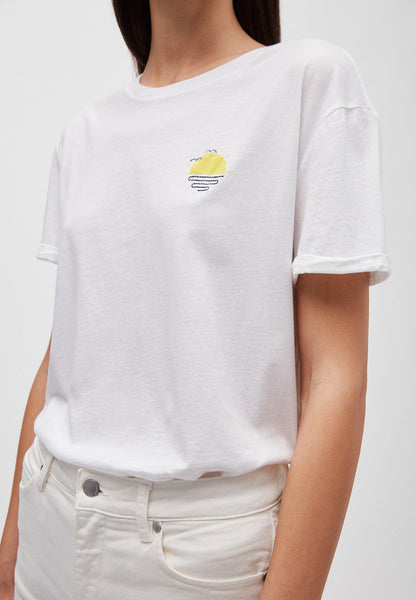 Naalin Little Sunrise T-shirt (White) - ARMEDANGELS