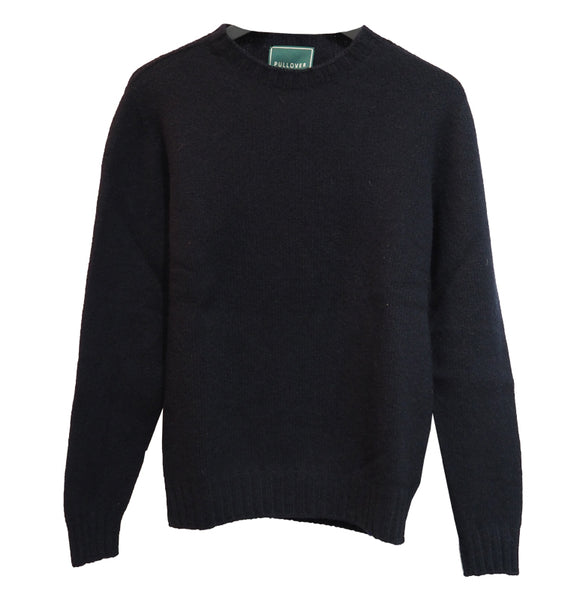 Lambswool Recycled Sweater (Navy) - PULLOVER