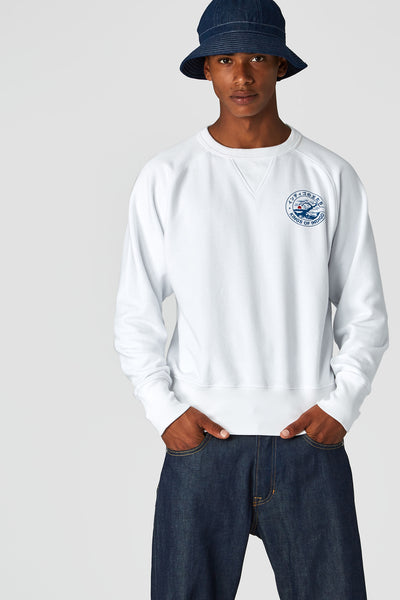 Parnell Sweatshirt (White) - Kings Of Indigo