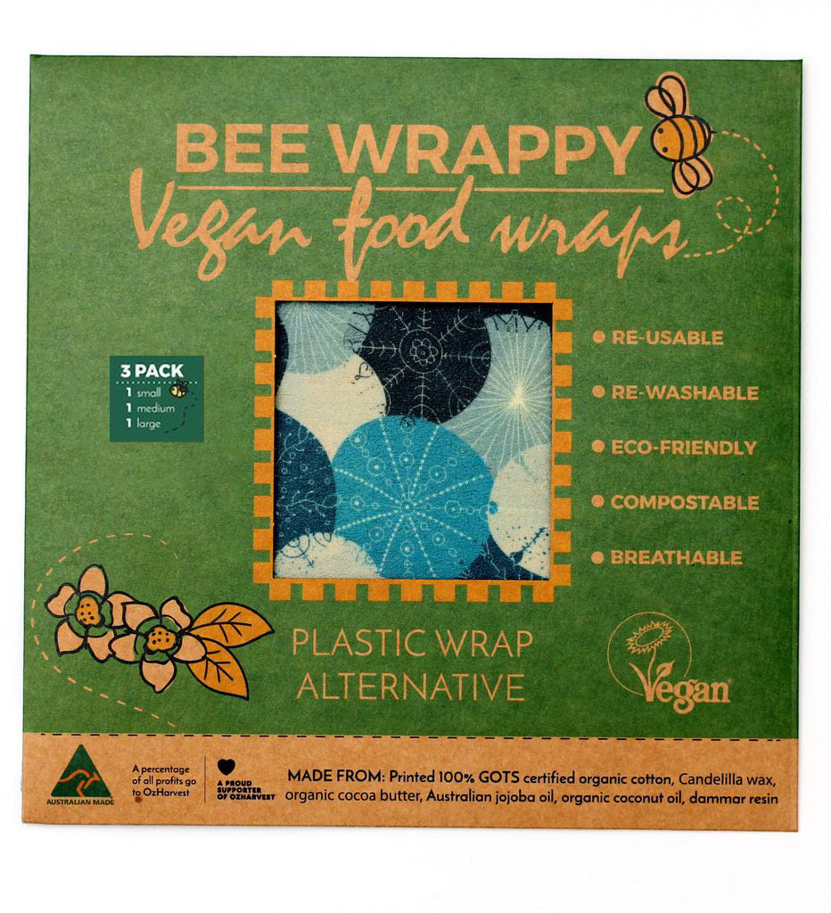 Vegan Food Wraps (3 Pack) - Nature Team