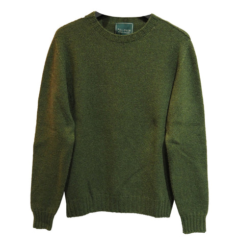 Lambswool Recycled Sweater (Green) - Pullover