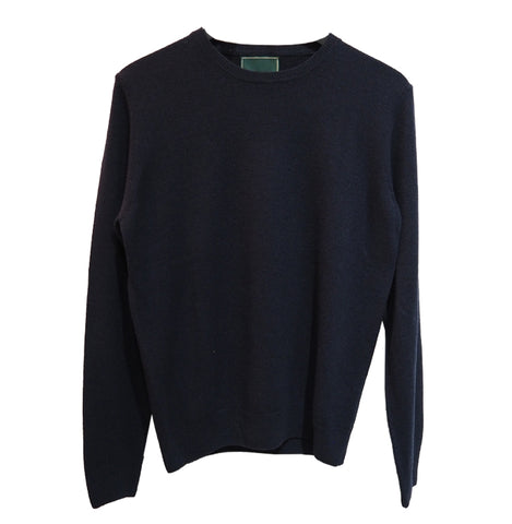 Crewneck Recycled Cashmere (Navy) - PULLOVER