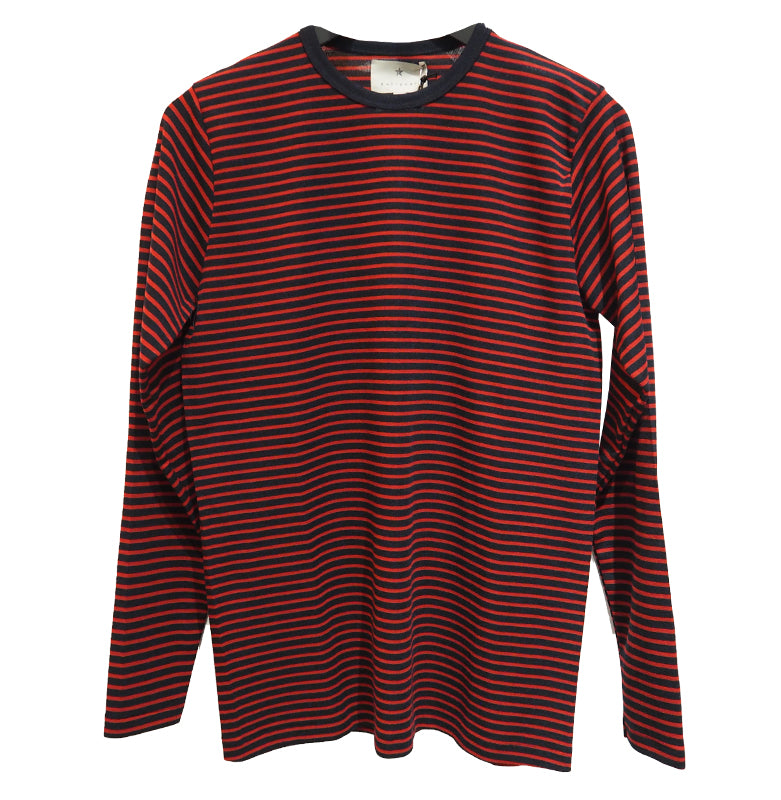 Wooljersey Block Striped (Navy/Red) - PULLOVER