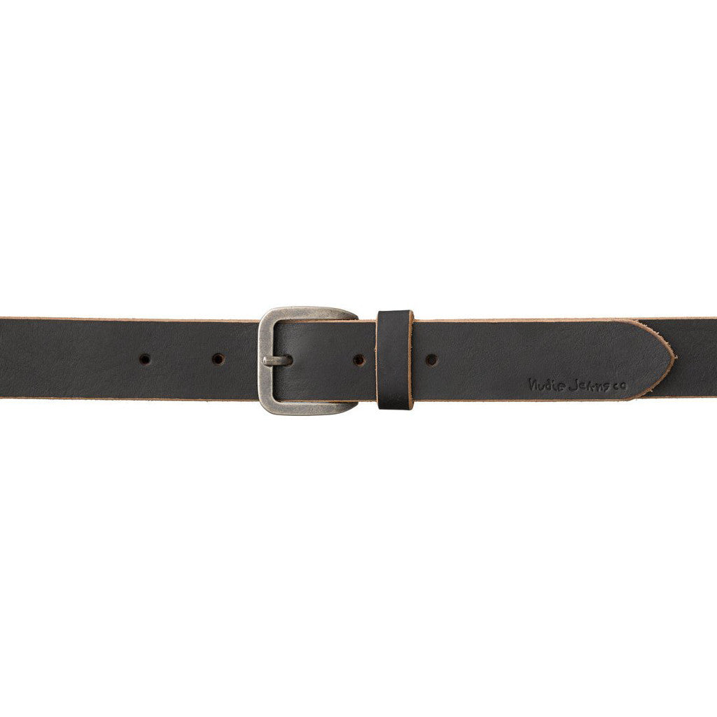 Albertsson Raw Edge Belt (Black) - Nudie Jeans