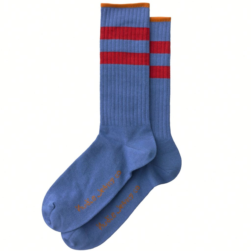 Amundsson Sport Socks (Oden Blue) - Nudie Jeans