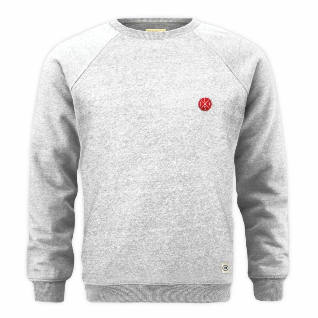 Essential Emb Batch Sweatshirt (Grey) - ELSK