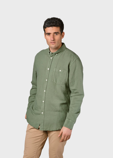 Benjamin Linen Shirt (Pale Green) - Klitmøller Collective
