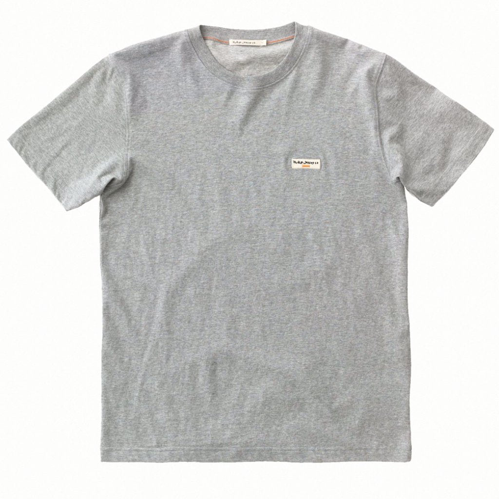 Daniel Logo Tee (Midnight, Grey Melange or Offwhite) - Nudie Jeans