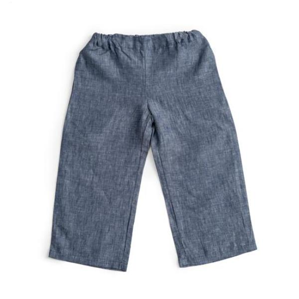Emil Pants Blue Linen - As We Grow