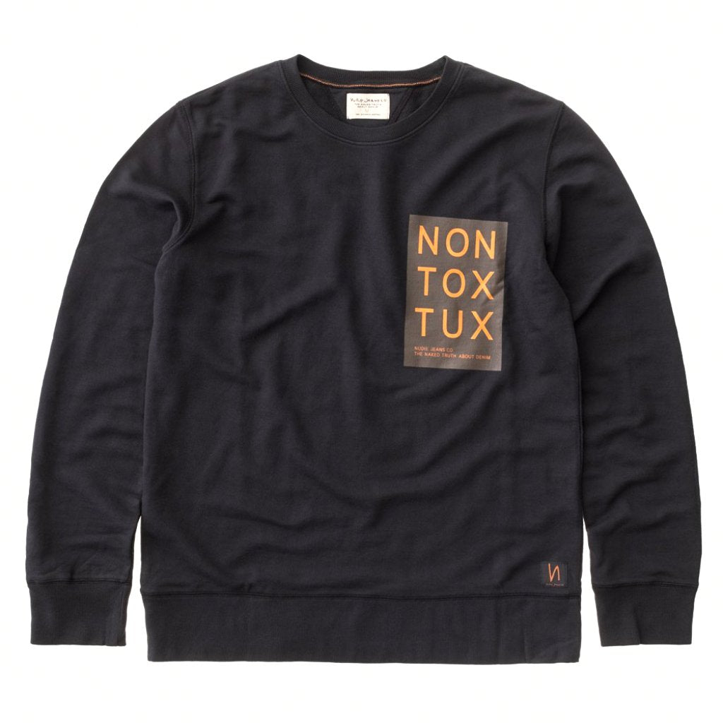Evert Non Tox Tux Sweatshirt (Black) - Nudie Jeans