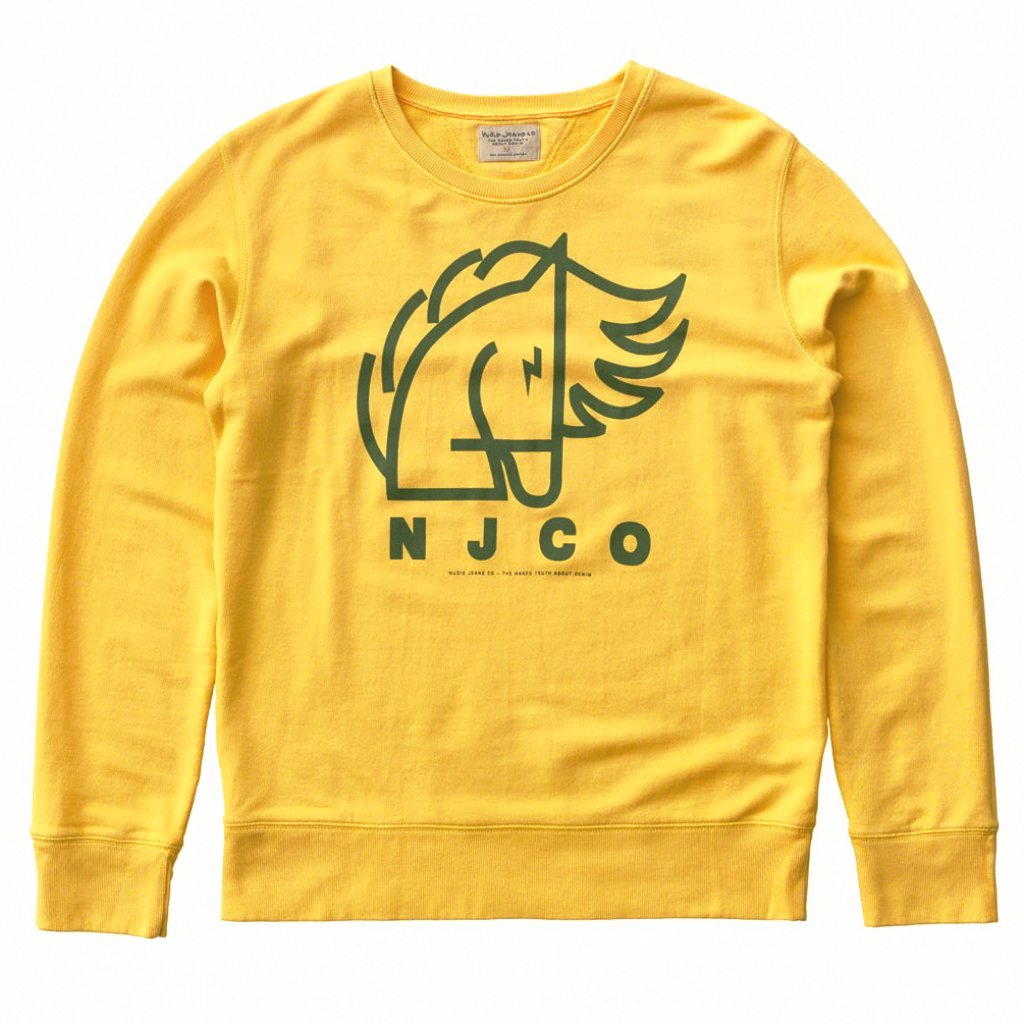 Evert Backahasten Sweatshirt (Sun Yellow) - Nudie Jeans