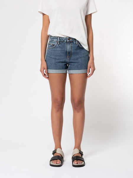 Frida Shorts (Blue Friends) - Nudie Jeans