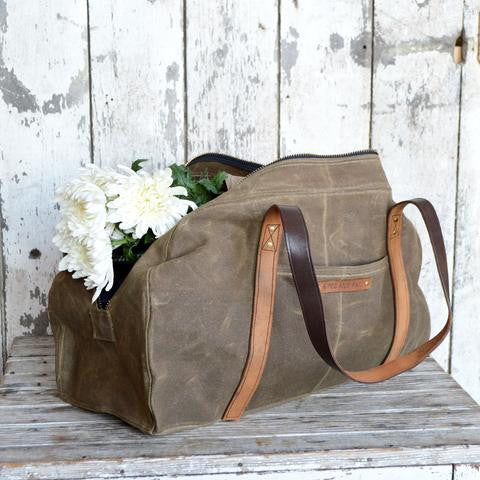 Waxed Canvas Journey Bag - Peg and Awl